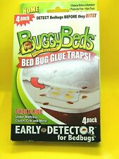 Buggy Beds 4 Pack New Bed Bug Glue Traps Early Detector For Bed Bugs- Usa Made!
