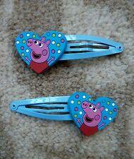 Peppa Pig Girls Hair Clips x 2 - Heart Shape, Brand New