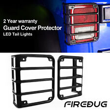 Firebug Tail Light Guards Cover Rear Lamps Trim Cover for 07-2017 Jeep Wrangler