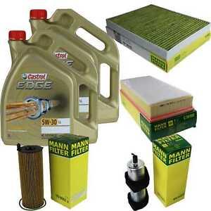 Inspection Kit Filter Castrol 10L Oil 5W30 for Audi Q7 4L 3.0 Tdi 4.2