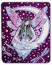 "Purple Fairy Fairie Queen Size Blanket 79"" x 96"" NEW"