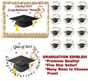 Graduation Class of 2021 Edible Cake Topper Image Graducation Cake Decoration