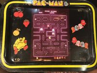 Vintage Pac-Man Metal TV Folding Tray Retro Video Game Decor Midway Mfg Co