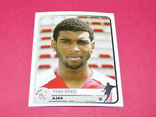 41 RYAN BABEL AJAX AMSTERDAM UEFA PANINI FOOTBALL CHAMPIONS LEAGUE 2005 2006