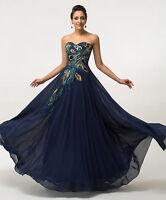 Pavo Real Concurso De Belleza Noche Formal Vestido fiesta Mujer Graduación Satén