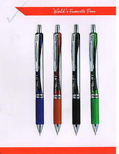 4 x Pentel Energel BL497 Roller Ball Liquid Gel Pen, Medium Tip, Assorted Colors