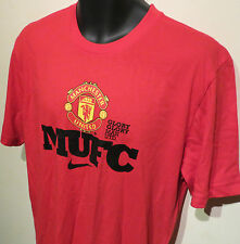 BNWT Red Devils Nike Manchester United T-Shirt MUFC Tee Soccer Jersey L Large
