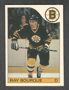 1985-86 RAY BOURQUE #40 EX-MT OPC * KEY Bruins HALL OF FAME Star NHL Hockey Card