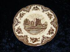 Flacher Teller Johnson Bros England Old Britain Castles braun multicolor (P-283)