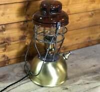 Industrial 1970's Vintage Tilley Lamp, Retro Unique Edison Mancave Camping Brown