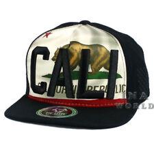 ae435870aa6 California Republic hat CALI 3D Embroidered Bear Snapback Baseball cap-  Black