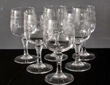 6 verres à vin en cristal d'Arques modèle Matignon