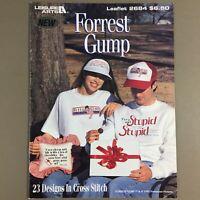 Forrest Gump cross stitch chart pattern booklet 23 designs Tom Hanks movie vtg