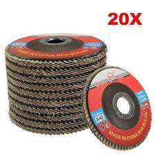 "20 X 115mm 40 Grit Aluminium Oxide Flap Discs 1/2"" Angle Grinder Grinding Wheels"