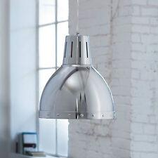 Wofi Pendelleuchte Deventer 1-flg Chrom Industrie Look ø34 cm dimmbar E27 Lampe