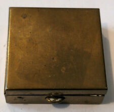 Vintage Small Brass Pill Box With Divider Trinket Box
