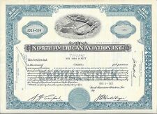 North American Aviation Inc.1953 Stock Certificate