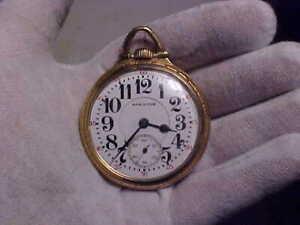 16 Size, 21 Jewels, Hamilton 992, Railroad Grade Pocket Watch