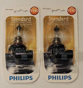 PHILIPS 9140 B1 X2 BULBS STANDARD VISION 40W HEADLIGHT HALOGEN OEM 12V FOG LIGHT