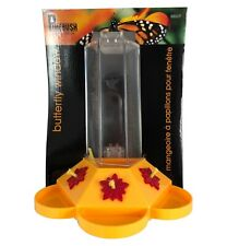Pinebrush Butterfly Window Feeder 6 ounce Nectar Capacity Bright Color Yellow