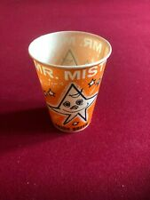 "1960's, Dairy Queen, ""Un-Used"", ""MR. MISTY"" (9 oz) Wax Paper Cup (Orange) Scarce"