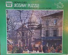 """Vintage Montmartre, Paris France 1000 piece 22"""" x 28"""" puzzle Crown Guild"""