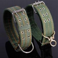 Adjustable Pet Dog Collar Nylon Neck Belt With Metal Buckle For Medium Large Dog