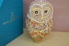 "Royal Crown Derby Paperweights  ""WINTER OWL""  1st Quality & Orig Box   Brand New"