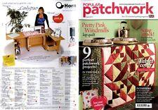 Patchwork popular revista 2013 Jun-Pretty Pink molinos de viento, cubierta de la tableta