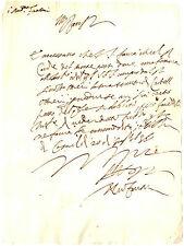 Lettera Autografo Andrea Fantoni Favori a Imperatore Castell'Ottieri Sorano 1536