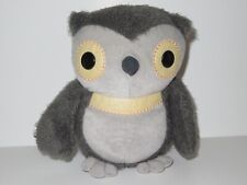 "Kohls Cares Kids Aesops Fables Grey Owl Plush Stuffed Animal EUC 9"""