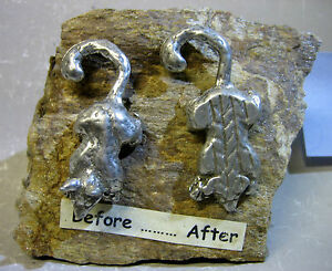 """""""Before ...... After"""" handmade metal and stone figurine"""