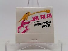 Jai Alai MGM Grand Hotel Las Vegas Matchbook Only Game In Town Match Book