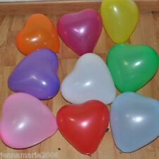 """10 latex 12"""" Heart Shaped Wedding or Party Balloons assorted colours SALE"""