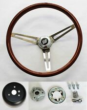 "1969-1993 Buick Skylark GS Wood Steering Wheel 15"" High Gloss Finish SS spokes"