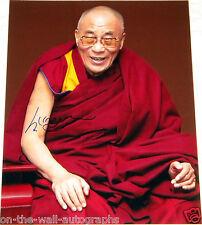 HIS HOLINESS TENZIN GYATSO, 14TH DALAI LAMA HAND SIGNED RARE 16X20 PHOTO W/PROOF