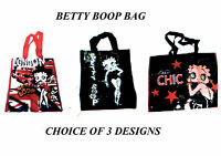 Betty Boop plastic tote reusable eco shopper  shopping bag  choice of designs