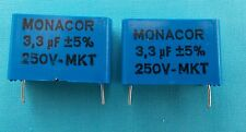2 x 3.3uf MKT PCB FOIL CROSSOVER CAPACITORS