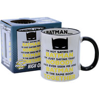 Batman and Me funny Tea Coffee Mug comedy cup Kitchen Home Office Gift