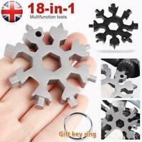 All 18in1 Multi-Tool Stainless Steel Snowflake Shape Flat Cross Head Screwdriver
