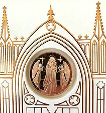 New 1989 Franklin Mint HOLY MOTHER HOLY CHILD Medal Coin Greeting Card w/COA