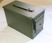 orig US BW Munitionskiste Munikiste Box Transportkiste Cal 50mm Metall Oliv 2