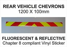 Rear Chevrons Reflective & Fluorescent 1200mm x 100mm