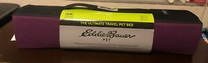 Eddie Bauer: The Ultimate Travel  Pet Bed (Small/ Medium , Burgundy)