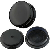 Pair Black Acrylic Screw Ear Plug Taper Tunnel Expander Stretching Kit 4g - 3/4""