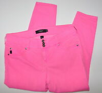 Torrid Denim Cropped Jeggings Size 16 Neon Pink Jean Women's Stretch