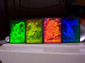 1994 MARVEL UNIVERSE SERIES 5 HOLOGRAM INSERT 4 CARD SET SPIDER-MAN WOLVERINE!