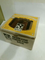 Hoyle Revolving poker chip rack vintage w box walnut 1067 Stancraft