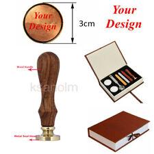 Personalised Logo Custom Design Wedding Invitations Wax Seal Wood Stamp Box Set