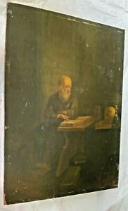Antique Oil Painting St. Jerome1600-1700's  Flemish. Italian. Spanish, Wood BIN